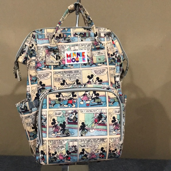 Awesome Disney Mickey/Minnie Backpack Diaper Bag